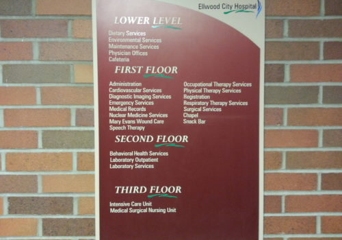 Hospital Directory Sign