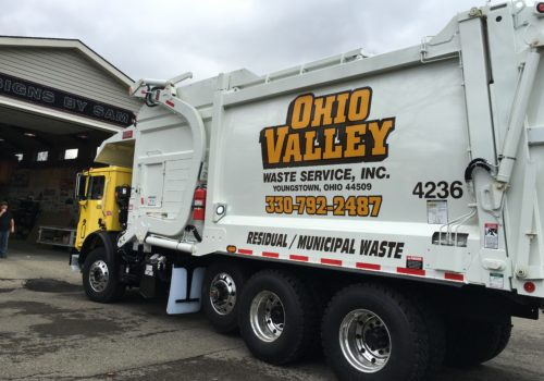 Custom Garbage Truck Lettering