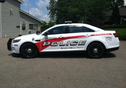 Police Cruiser Graphics & Lettering
