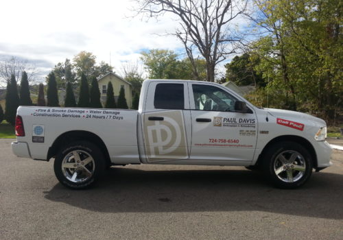 Oversize Truck Graphic & Lettering