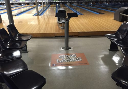 Bowling Alley Floor Graphic Decal