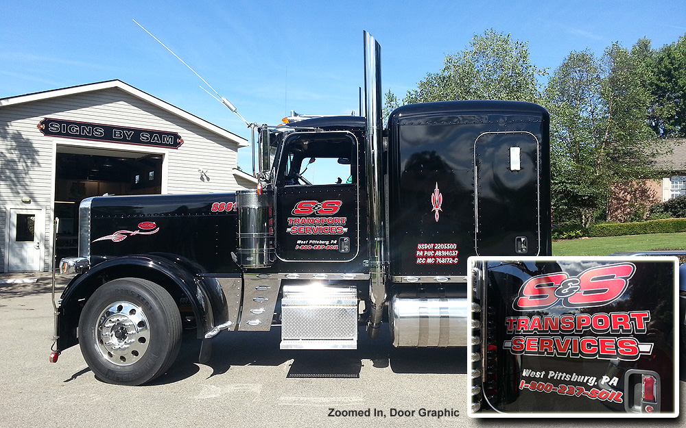 394e5fc69c Semi Truck Graphics   Door Lettering – Signs By Sam