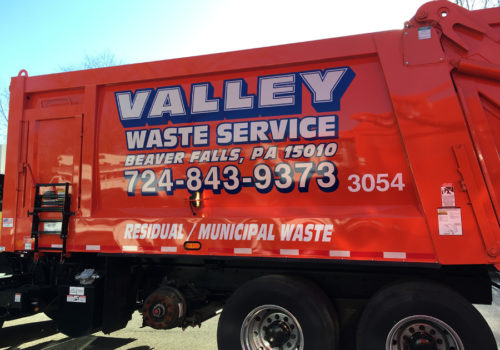 Waste Service Truck Lettering