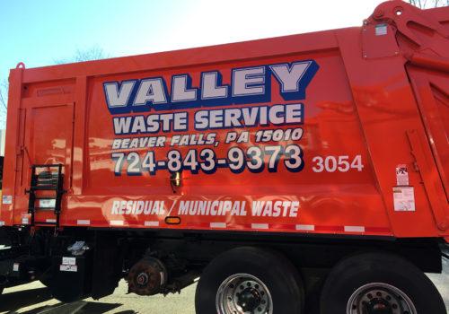 Waste Service Truck Lettering