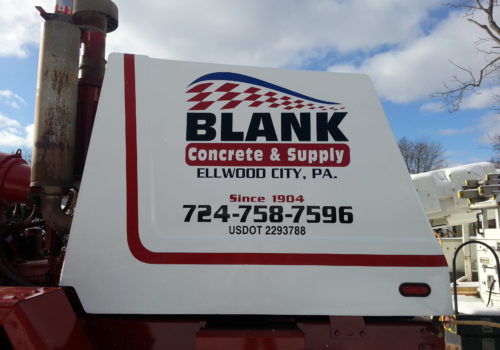 Cement Truck Fleet Graphics