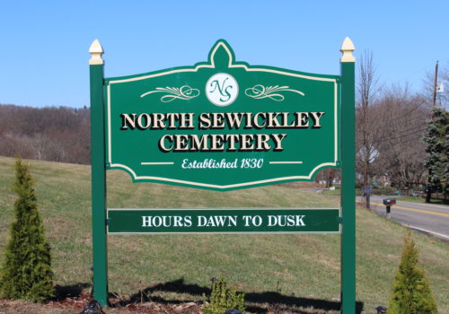 Post & Panel Cemetery Signage