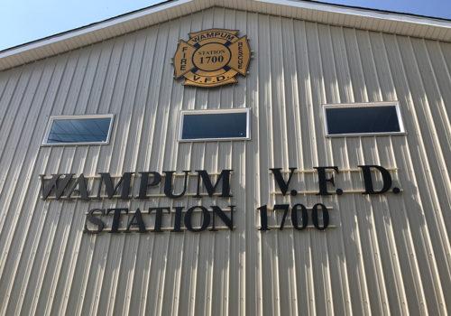 Fire Department Exterior Lettering