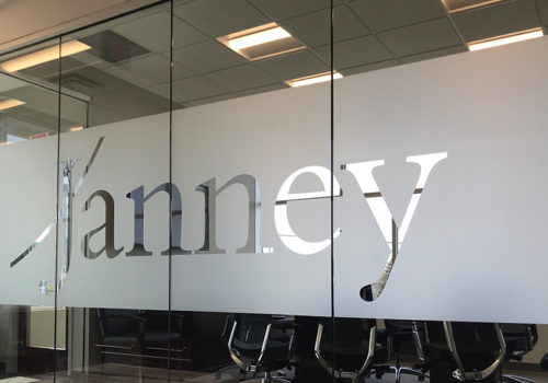 JANNEY FROSTED GLASS